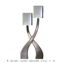 Lampe à poser en céramique gamme « socrate » petit modèle 2 lumières gis