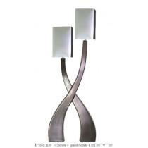 Lampe à poser en céramique gamme « socrate » grand modèle 2 lumières gis