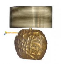 Lampe à poser en céramique gamme « savane » doré abat-jour doré