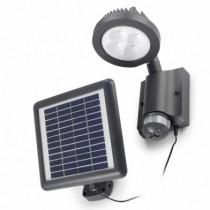 Luminaire d'extérieur. Lampe solaire à led autonome shapley