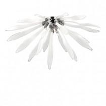 Applique Corallo chrome et verre blanc travaillé, halogène.