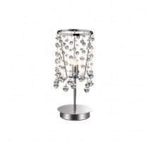 Lampe à poser moolight chrome et pampille en cristal 1 lumière
