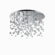 Plafonnier Neve 12 lumières métal chromé et pampille en verre