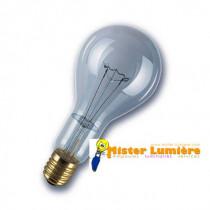 Lampe, ampoule incandescente 300 watt culot E40 claire.