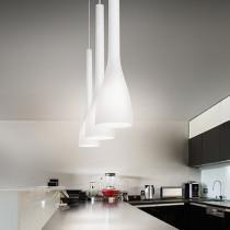 Suspension FLUT ø 11 luminaire de IDEAL LUX 1 lumière, lustre design coloris au choix