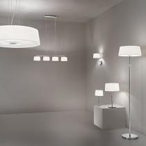 Suspension HILTON luminaire de IDEAL LUX 4 lumières, lustre design