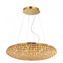 Suspension KING luminaire de IDEAL LUX 12 lumières, lustre design Chrome Or