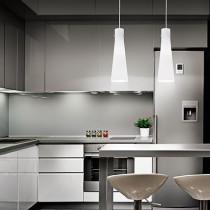 Suspension KUKY BIANCO luminaire de IDEAL LUX 4 lumières, lustre design