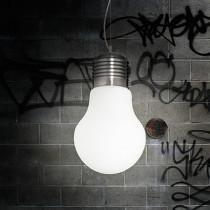 Suspension LUCE BIANCO ø 30 luminaire de IDEAL LUX 1 lumière, lustre design