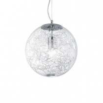 Suspension MAPA MAX luminaire de IDEAL LUX 5 lumières, lustre design, transparent ou fumé