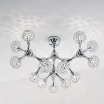 Applique NODI CRYSTAL ø 75 luminaire de IDEAL LUX 15 lumières, création design