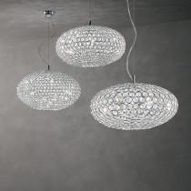 Suspension ORION luminaire de IDEAL LUX 12 lumières, lustre design Chrome Or