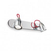 Applique POLLICINO luminaire de IDEAL LUX 4 spots lumières, création design