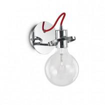 Applique RADIO luminaire de IDEAL LUX 1 lumière, lustre design blanc chrome ou noir