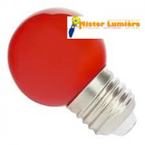 Ampoule LED de forme sphérique ronde de couleur rouge culot a vis E27