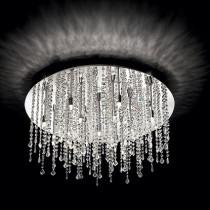 Plafonnier ROYAL luminaire de IDEAL LUX 15 lumières, design cristal