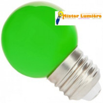 Ampoule LED verte sphérique ronde culot a vis E27