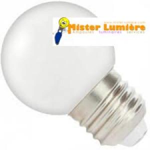 Ampoule LED de forme sphérique ronde de couleur blanc culot a vis E27