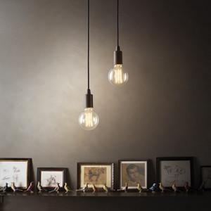 Suspension EDISON luminaire de IDEAL LUX 1 lumière, lustre design blanc chrome ou noir