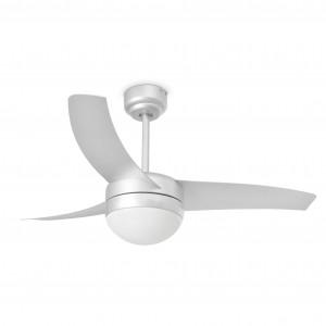 Ventilateur de plafond lumineux, EASY gris ,3 pales design.