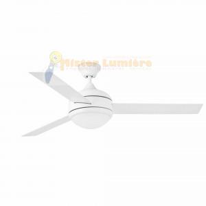 ventilateur de plafond lumineux, gamme JAVA blanc