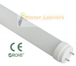Tube LED 60cm 10 watt blanc chaud culot G13