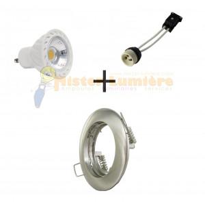 Kit spot encastré LED 7 watt GU10