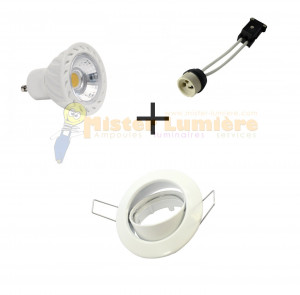 Kit spot encastré LED orientable 7 watt GU10