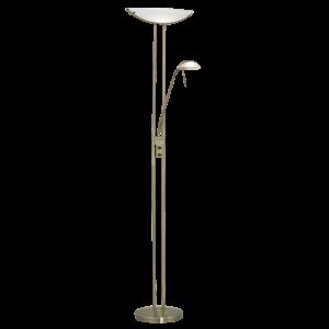 Lampadaire halogène avec liseuse BAYA finition bruni