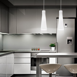 Suspension KUKY BIANCO luminaire de IDEAL LUX 4 lumières, lustre design